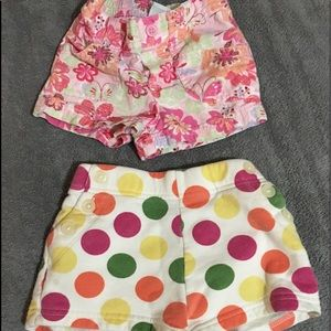 Set of two shorts for toddler girl